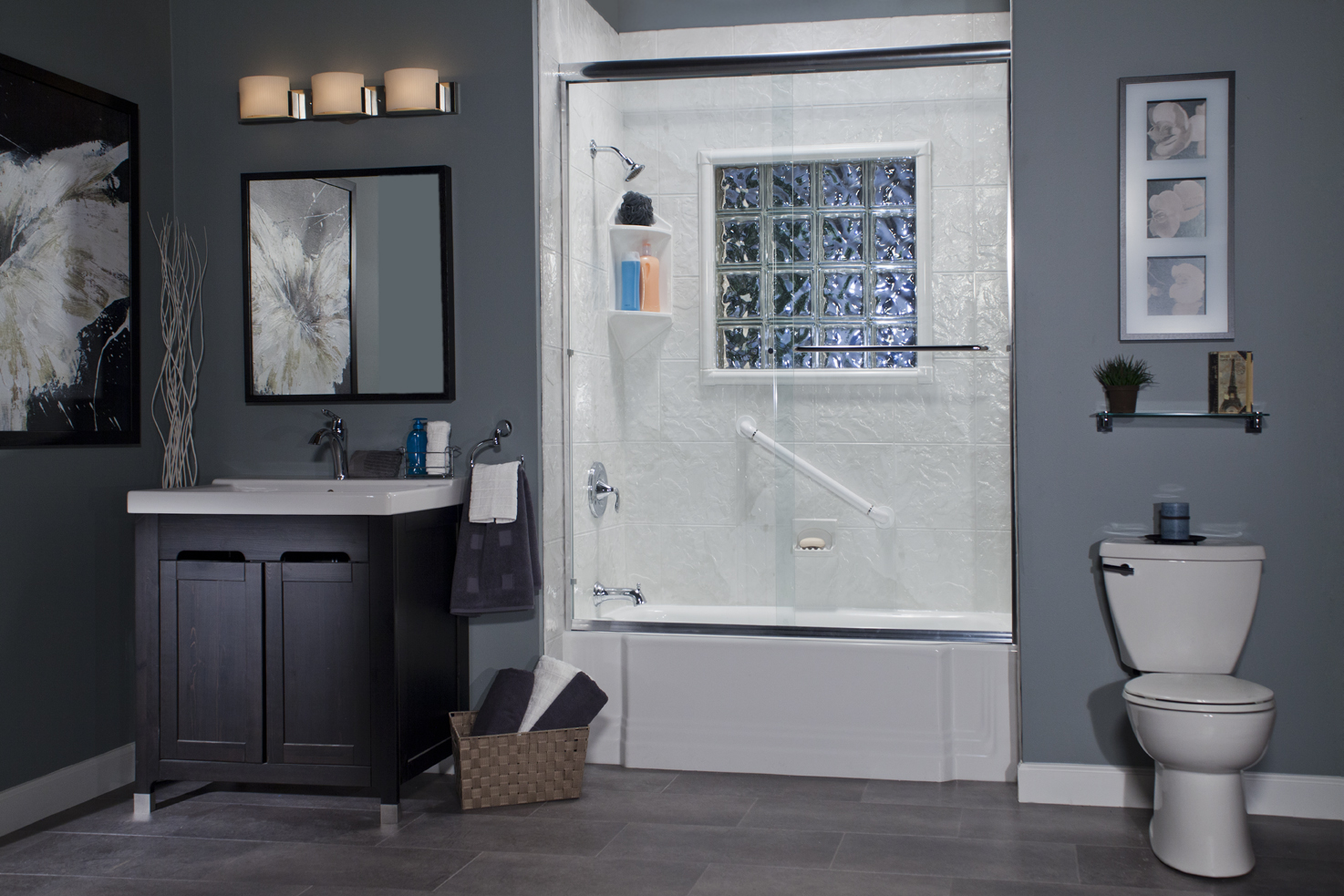Sure Fit Bath Kitchen Premium Acrylic Seamed Seamless Wall Sys